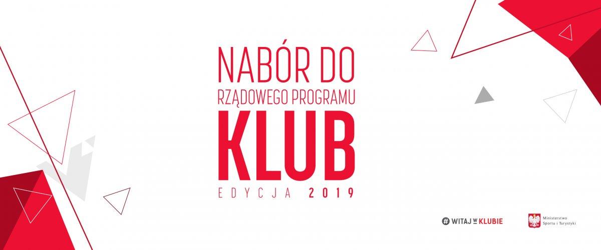 Ilustracja do informacji: Nabór do Rządowego Programu KLUB - edycja 2019!