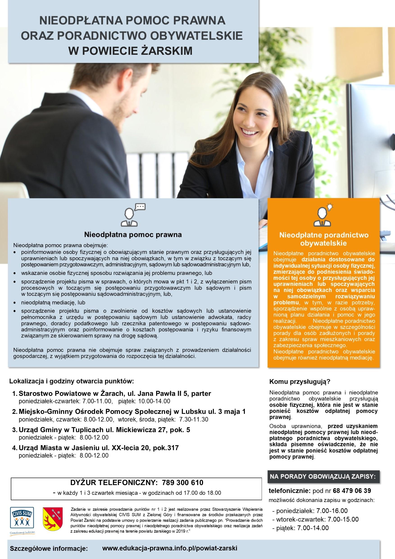 Ilustracja do informacji: Bezpłatne porady prawne