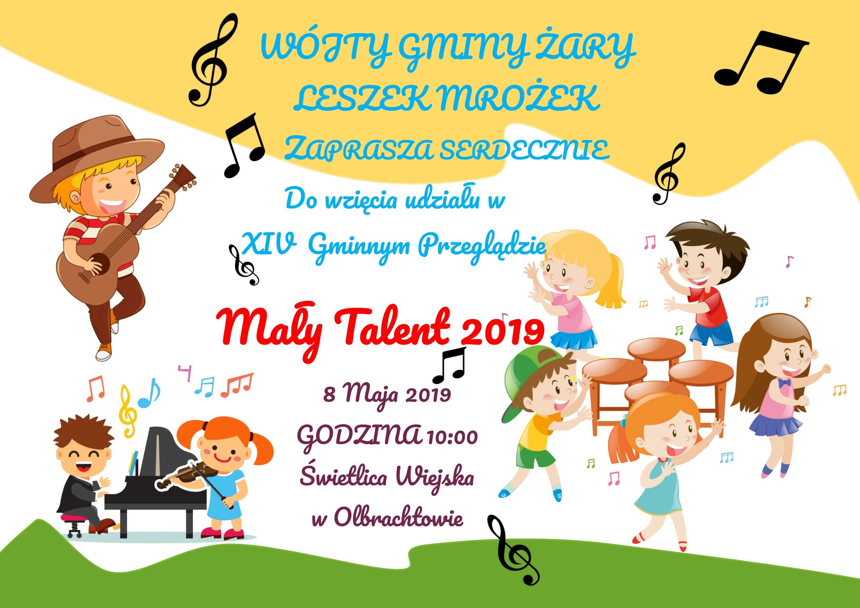 Ilustracja do informacji: Gminny Przegląd Mały Talent 2019