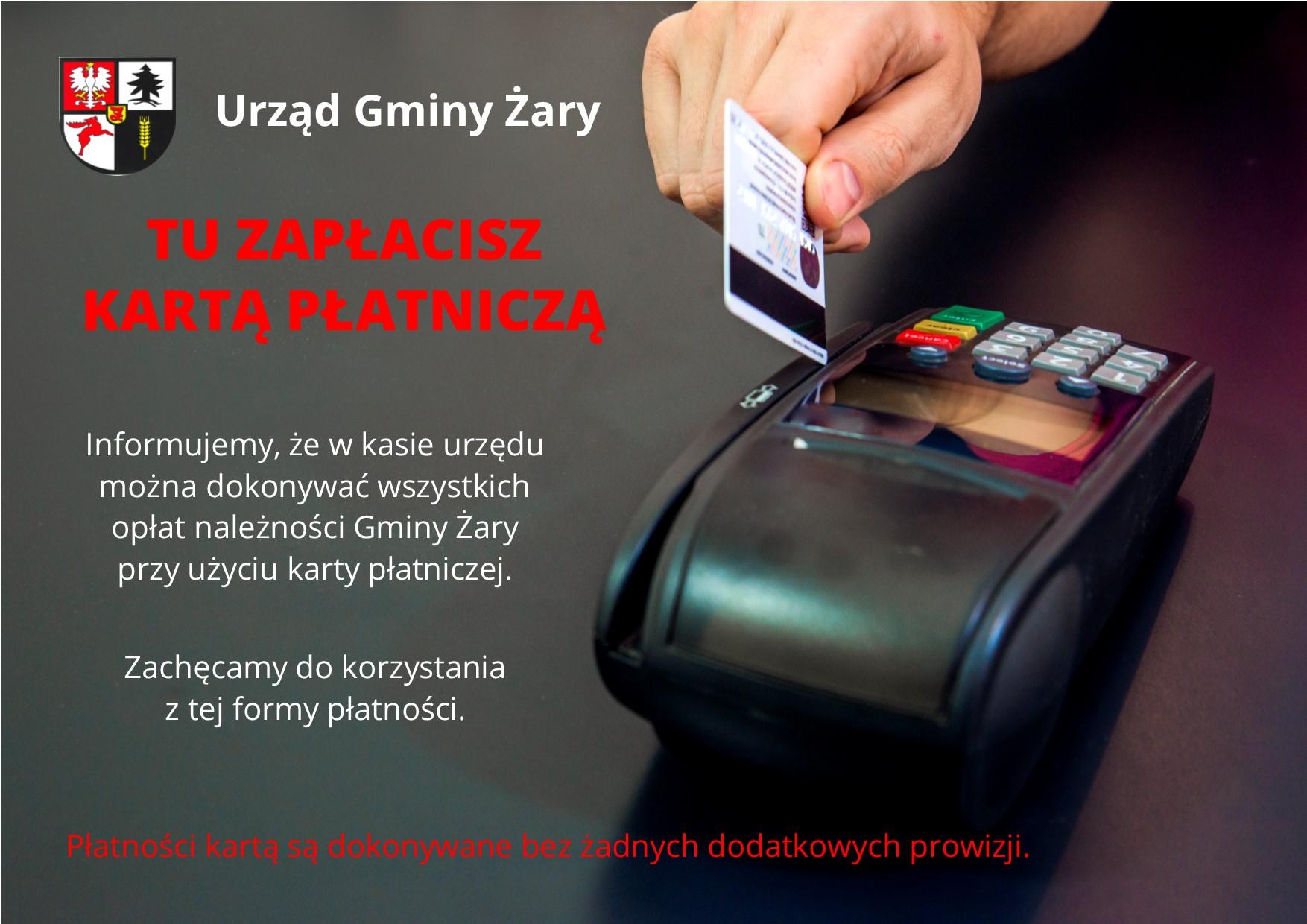 Ilustracja do informacji: Płatność kartą