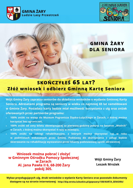 Ilustracja do informacji: Gminna Karta Seniora 65+