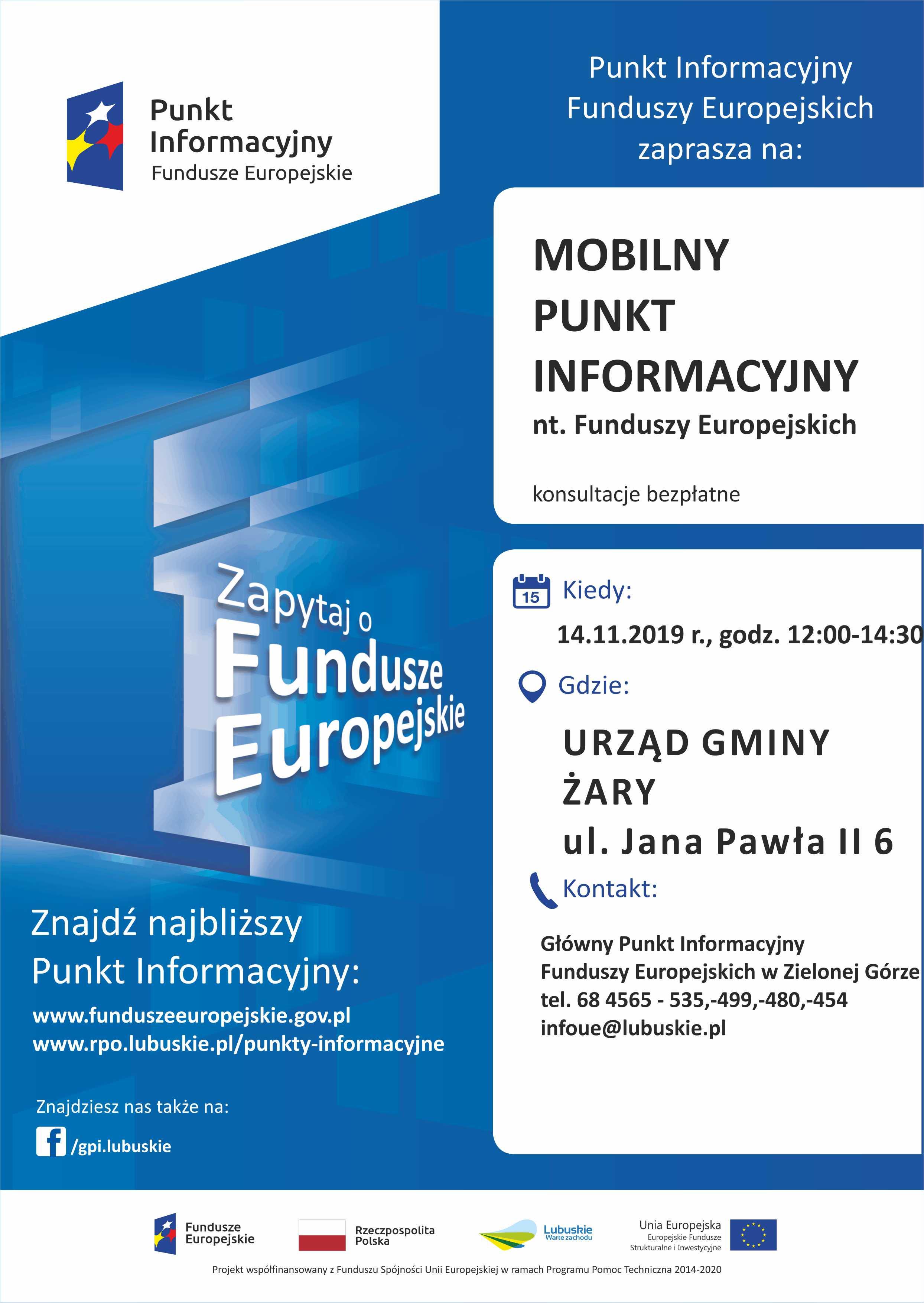 Ilustracja do informacji: Mobilny Punkt Informacyjny w Żarach – 14.11.2019 r.