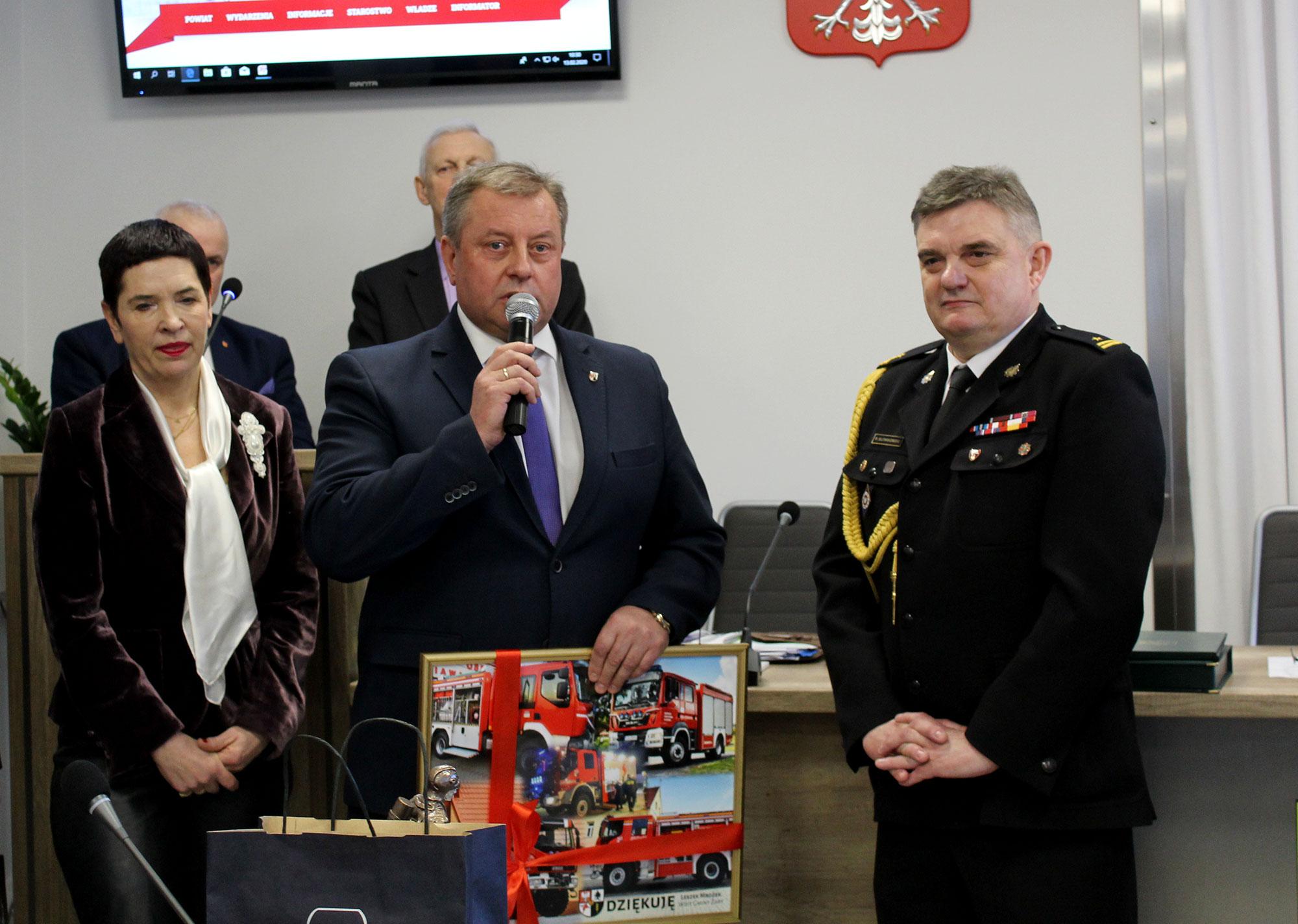 Ilustracja do informacji: Pożegnanie Komendanta PSP w Żarach mł. bryg. Roberta Słowikowskiego