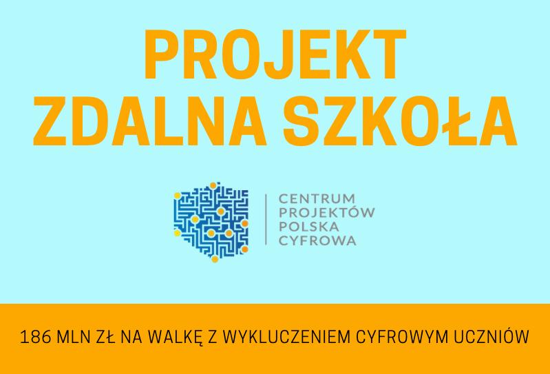 Ilustracja do informacji: Projekt Zdalna Szkoła