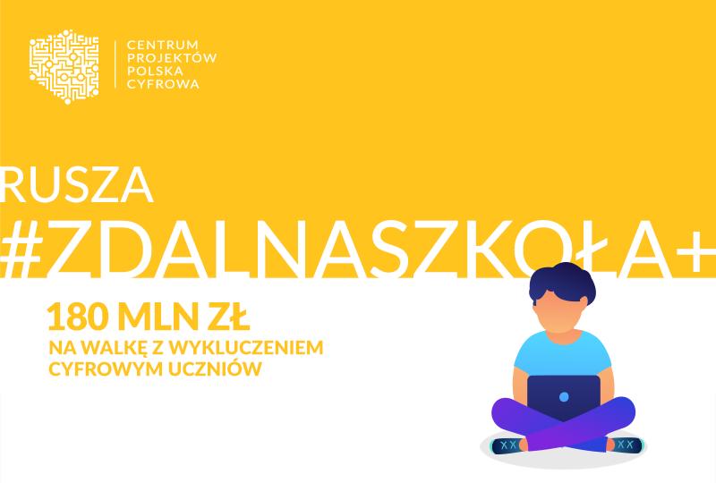 Ilustracja do informacji: Program Zdalna Szkoła+