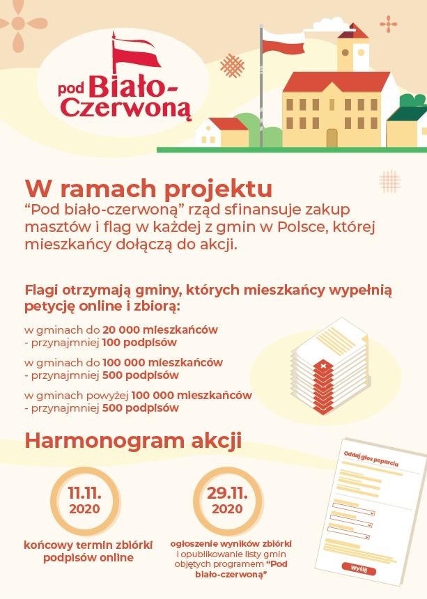 Ilustracja do informacji: Środki na budowę masztu i flagi w każdej gminie