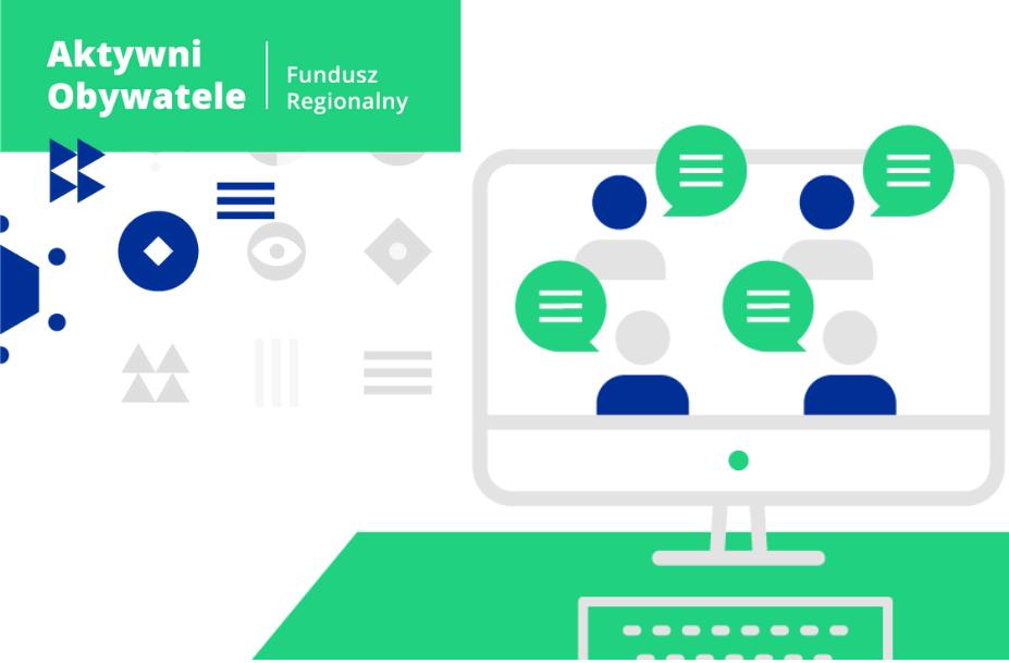 Ilustracja do informacji: Startuje Program Aktywni Obywatele - Fundusz Regionalny. Może to coś w sam raz dla Ciebie!