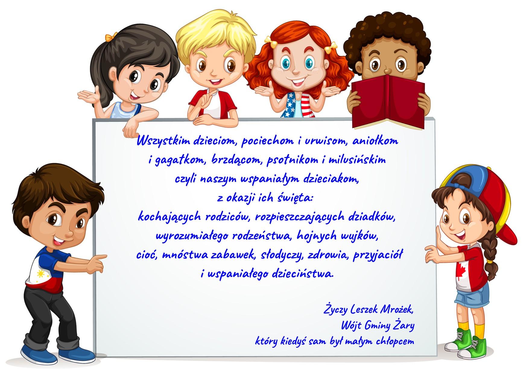 Ilustracja do informacji: Dziś Dzień Dziecka!