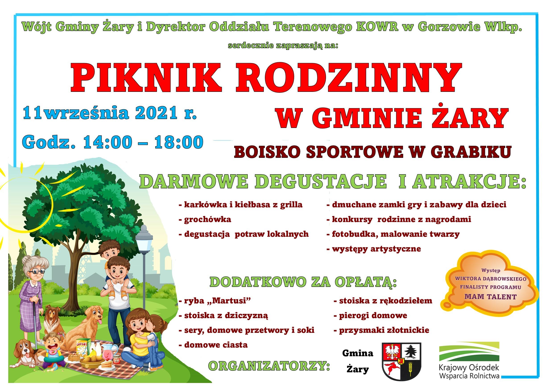 Ilustracja do informacji: Czekamy na Was w sobotę na pikniku w Grabiku!