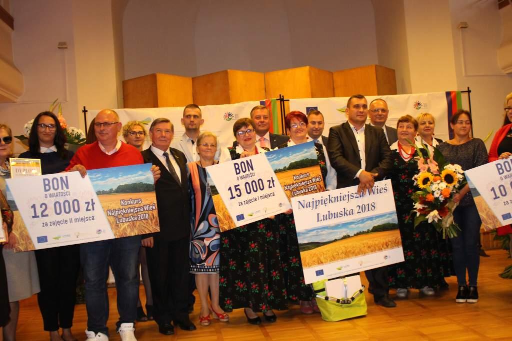Ilustracja do informacji: Łaz- Najpiękniejsza Wieś Lubuska 2018